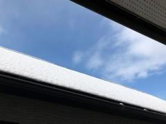 仕事部屋からお隣の屋根を眺める